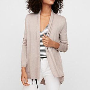 Express Beige Cinched Cardigan